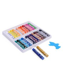 Doms Oil Pastel Jumbo Colors 25 Shades - Multicolor
