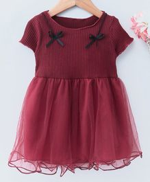 a76ae4f7d351 Maroon Color Frocks and Dresses Online - Buy at FirstCry.com