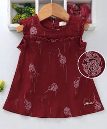 d937b108c2c5 Maroon Color Frocks and Dresses Online - Buy at FirstCry.com