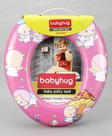 Babyhug Cushioned Potty Seat Cartoon Print - Pink