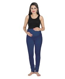 a0f7449007b84 Lulamom Maternity Active Full Length Legging With Belly Band Support- Blue