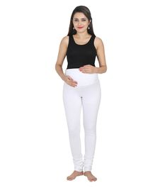 072f895f3d2f18 Lulamom Maternity Active Full Length Legging With Belly Band Support - White