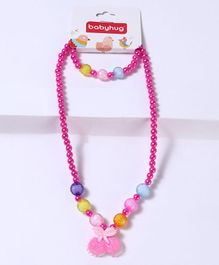 Babyhug Bracelet And Necklace Cherry Motif - Pink