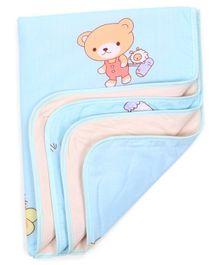 Diaper Changing Mat Cartoon Print - Blue