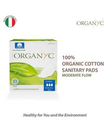 Organ(y)c 100% Cotton Sanitary Pads pack of 10 - Moderate Flow