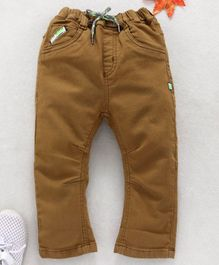 Little Kangaroos Full Length Jeans With Drawstring - Khaki