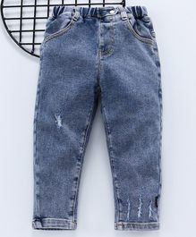 Kookie Kids Full Length Denim Jeans - Light Blue