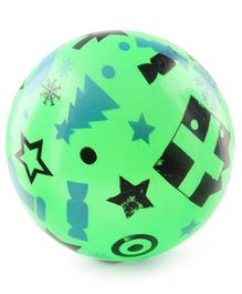 Christmas Print PVC Kids  Soft Ball - Green