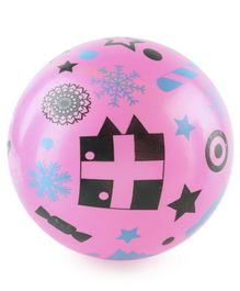 Christmas Print PVC Kids  Soft Ball - Pink