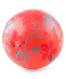 Flower Print PVC kids Soft Ball - Red