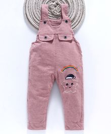 Kookie Kids Full Length Dungaree Star Print - Pink
