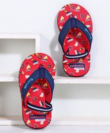 Cute Walk by Babyhug Flip Flops with Back Strap - Red