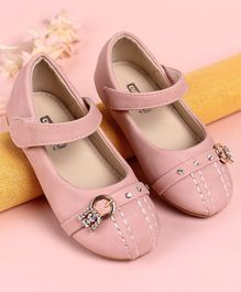 Cute Walk by Babyhug Bellies Studded Buckle Design - Pink