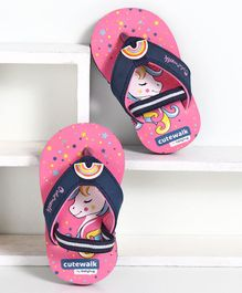 Cute Walk by Babyhug Flip Flops with Back Strap - Pink