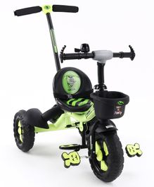 Plug & Play Tricycle With Parental Push Handle  - Green