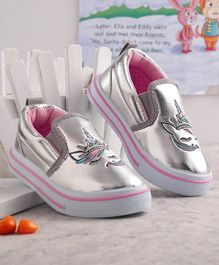 Cute Walk by Babyhug Casual Shoes Unicorn Embroidery - Silver