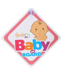Image Cut Baby On Board Reverse Little Princess Sticker Pink 8