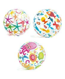 Intex Lively Print Beach Ball Flower Print - Multicolour