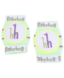 Babyhug Elbow & Knee Protection Pads Giraffe Print - Green And White