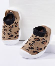 Cute Walk by Babyhug Socks Shoes  - Brown