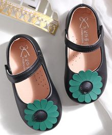 Hoppipola Flower Embellished Mary Janes - Black