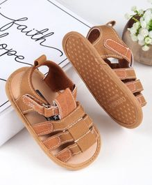 Cute Walk by Babyhug Booties - Tan Brown