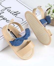 Cute Walk by Babyhug Sandals Style Booties Bow Applique - Blue