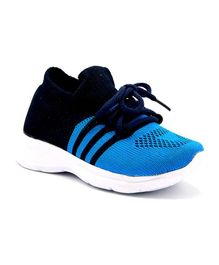 Jazzy Juniors Striped Detailing Shoes - Blue