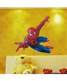 Syga Spider Man Themed Decals Design Wall Sticker - Red Blue