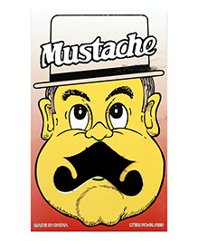 Funcart Stick On Mustache - Black - 1080637