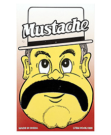 Funcart Stick On Mustache - Black - 1080640