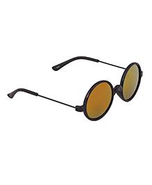 Spiky Classic Aviator Kids Sunglasses - Black & Red