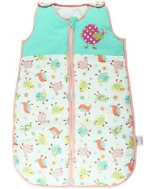 Babyoye Sleeping Bag With Bird Print - Multi Color