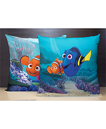 Spaces Reversible Polyester Cushion Cover Dory And Nemo Print - Blue