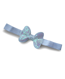 Little Miss Cuttie Sequence Bow Headband - White