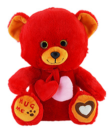 Jungly World Heartly Teddy Bear Red - 10 Inches