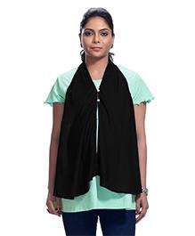 Kriti Solid Colour Maternity Poncho - Black