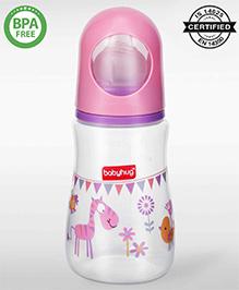 Babyhug Bubble Feeding Bottle Pink - 125 Ml