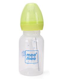 Mee Mee Feeding Bottle With Brush Green - 125 Ml