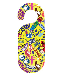 The Crazy Me Music Printed Door Hanger - Yellow