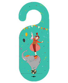 The Crazy Me Circus Printed Door Hanger - Aqua Green