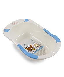 Babyhug Baby Bath Tub - Cream And Blue