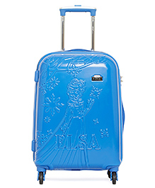 Gamme Disney Frozen Emboss Kids Luggage Trolley Bag Blue - 20 Inches