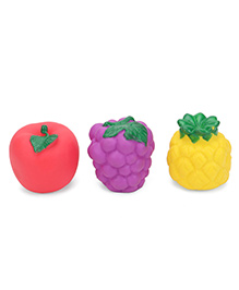 Ratnas Squeaky Bath Toys Fruits Pack Of 3 (Color May Vary)