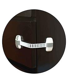 Safe-O-Kid Adjustable Medium Multi-Purpose Child Safety Lock Pack Of 1 - Grey White
