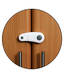 Safe-O-Kid Child Safety Cabinet Lock Pack Of 4 - White