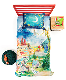 Tilt SpinTales Educational And Interactive Augmented Reality Enchanted Twin Duvet Set - Multicolor