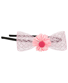 Funkrafts Bow With Flower Hair Band - Pink