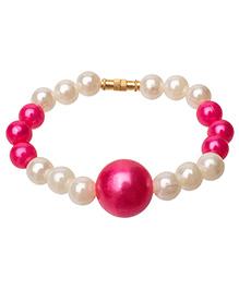 Daizy Pearls & Bead Bracelet - White & Lavender