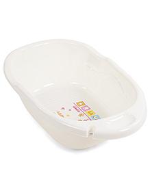 Baby Bath Tub With Print - Cream